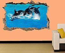 Adesivo Effetto 3D Stickers - Adesivi Murali,Pesce
