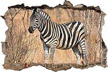 Adesivo Effetto 3D Stickers -bella zebra nella