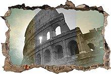 Adesivo Effetto 3D Stickers -Colosseo a Roma -