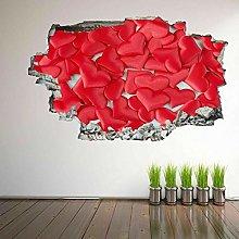Adesivo Effetto 3D Stickers Cuori 3D Wall Art