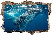 Adesivo Effetto 3D Stickers -Mondo sott'acqua
