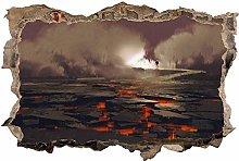 Adesivo Effetto 3D Stickers -Planet Lava Mystical