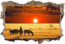 Adesivo Effetto 3D Stickers -Savana Safari Africa