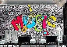 Adesivo Ktv Bar Graffiti 3D Wallpaper Home Decor
