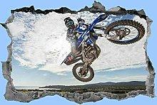 Adesivo, moto, wall art, 3d, dirt bike, camera da