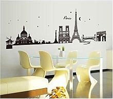 Adesivo Murale 190 Cm * 70 Cm Sfondo Torre Eiffel,