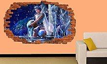 Adesivo murale 3D Acquario Segno zodiacale