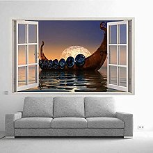 Adesivo murale 3D Boat S Decal Murale Camera
