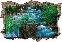 Adesivo murale 3D,Cascata,decorazione murale per