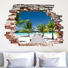 Adesivo murale 3D - Catwalk To Paradise -