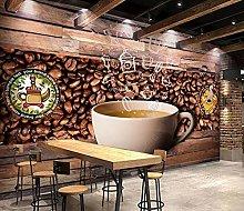 Adesivo murale 3d Coffee shop chicchi di caffè