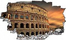 Adesivo murale 3D,Colosseo Roma,decorazione murale