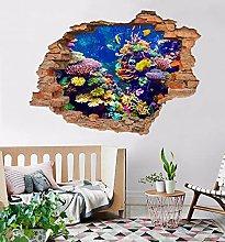 Adesivo murale 3D Coral Fish 94
