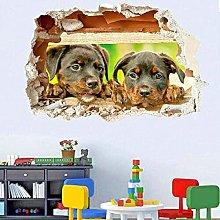Adesivo murale 3D Cuccioli carini Decalcomania di