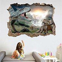 Adesivo murale 3D dinosauro antico camera da letto