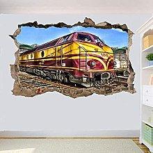 Adesivo murale 3D Ferrovia Locomotiva Treno S