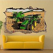 Adesivo murale 3D Field Tractor Harvester S Art