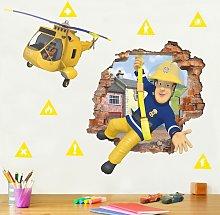 Adesivo murale 3D - Fireman Sam - Brings You To