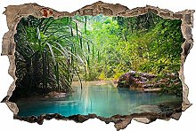 Adesivo murale 3D,fiume,decorazione murale per