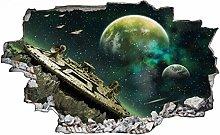 Adesivo murale 3D,Galassia,decorazione murale per