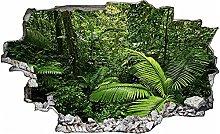 Adesivo murale 3D,giungla,decorazione murale per