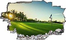 Adesivo murale 3D,Golfisti del campo da