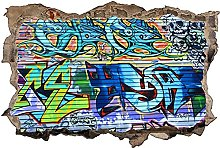 Adesivo murale 3D,Graffiti Art,decorazione murale