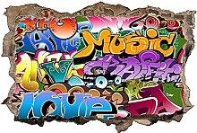 Adesivo murale 3D,Graffiti,decorazione murale per