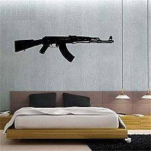 adesivo murale 3d grandi Ak 47 Gun Weapon Military
