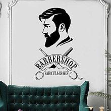adesivo murale 3d grandi Barbershop Logo Barber
