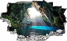 Adesivo murale 3D,grotta,decorazione murale per