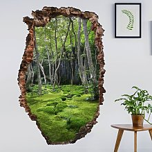 Adesivo murale 3D - Growing Trees - verticale 3:2