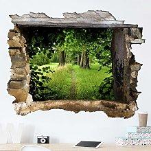 Adesivo murale 3D - Hidden Glade - orizzontale 3:4