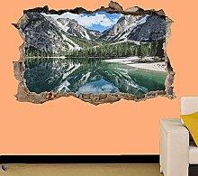 Adesivo murale 3D Lake Mountain Art Room Office