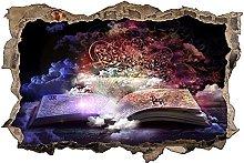 Adesivo murale 3D,Libro,decorazione murale per