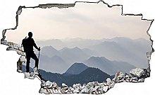 Adesivo murale 3D,Montagne che escursionano