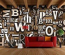 Adesivo murale 3d murale 3d alfanumerico inglese