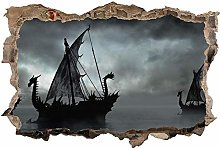 Adesivo murale 3D,Nave Sea,decorazione murale per