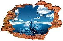 Adesivo murale 3d oceano decorazione domestica