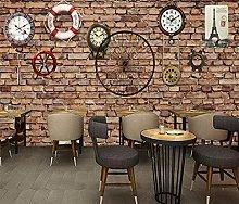 Adesivo murale 3d Orologio meccanico cafe bar 3d