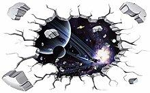 Adesivo Murale 3D Pianeti Galassia Cosmica