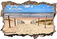 Adesivo murale 3D,Sabbia della spiaggia del Mare