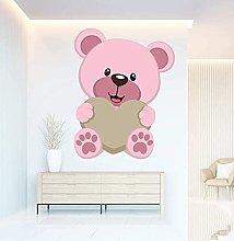 Adesivo murale 3D Simpatico orso rosa Soggiorno