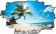 Adesivo murale 3D,spiaggia,decorazione murale per