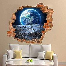 Adesivo murale 3D Terra dalla superficie lunare