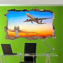 Adesivo murale 3D Torre di controllo Aeroplano Art