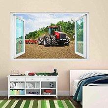 Adesivo murale 3D Trattore Macchine agricole