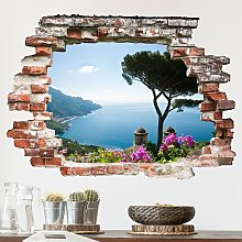 Adesivo murale 3D - View From The Garden On The