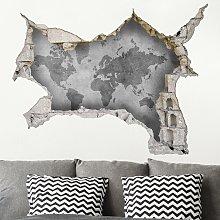 Adesivo murale 3D - Vintage World Map Ii -