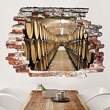Adesivo murale 3D - Wine Cellar - orizzontale 3:4